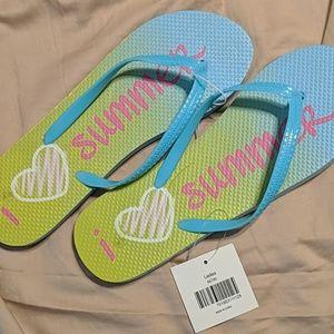 NWT I ❤️ Summer Flip Flops